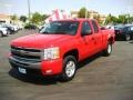 2009 Victory Red Chevrolet Silverado 1500 LT Extended Cab  photo #3