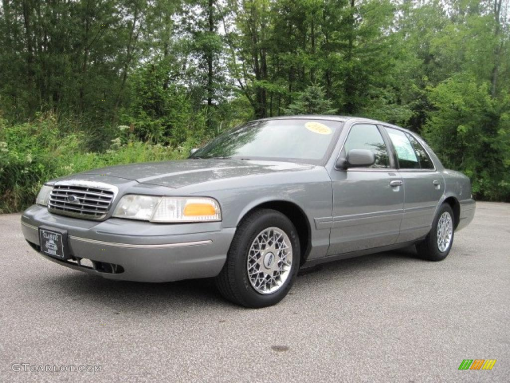 2000 medium grey metallic ford crown victoria lx sedan 17416384 car color. Black Bedroom Furniture Sets. Home Design Ideas
