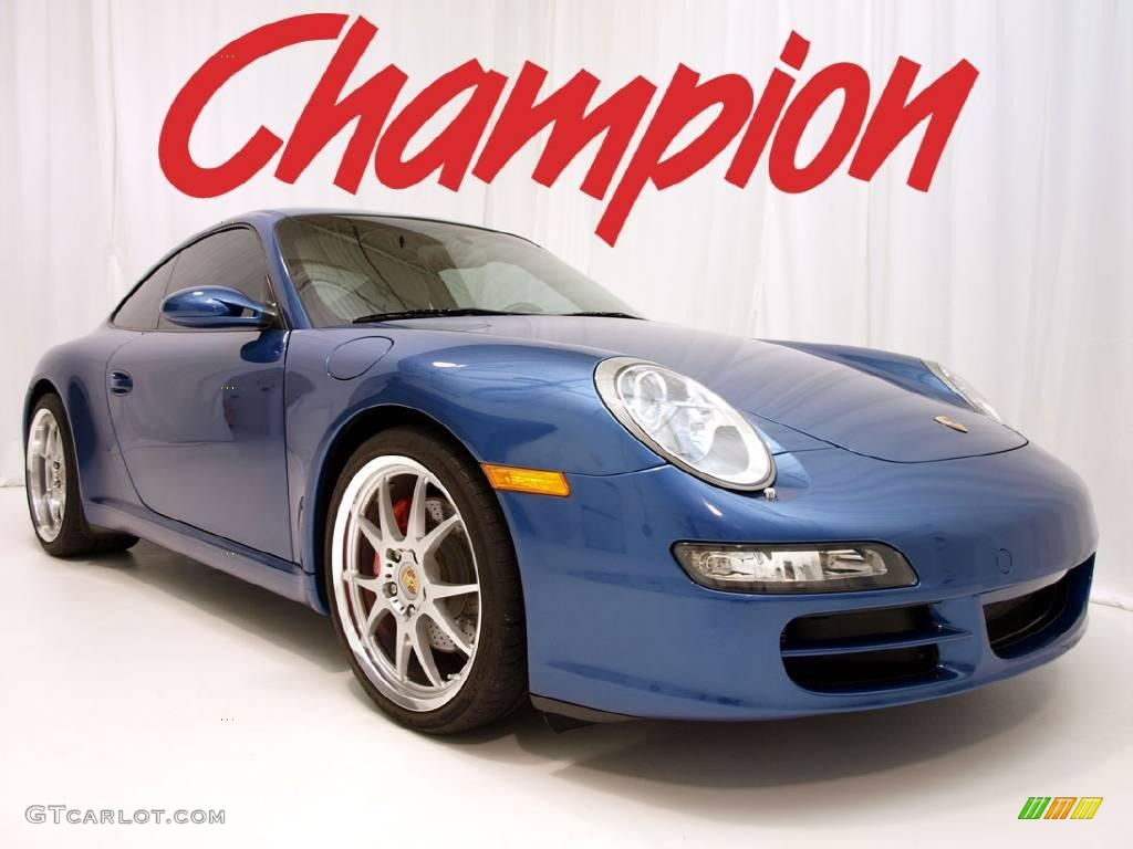 2006 911 Carrera S Coupe - Cobalt Blue Metallic / Stone Grey photo #1