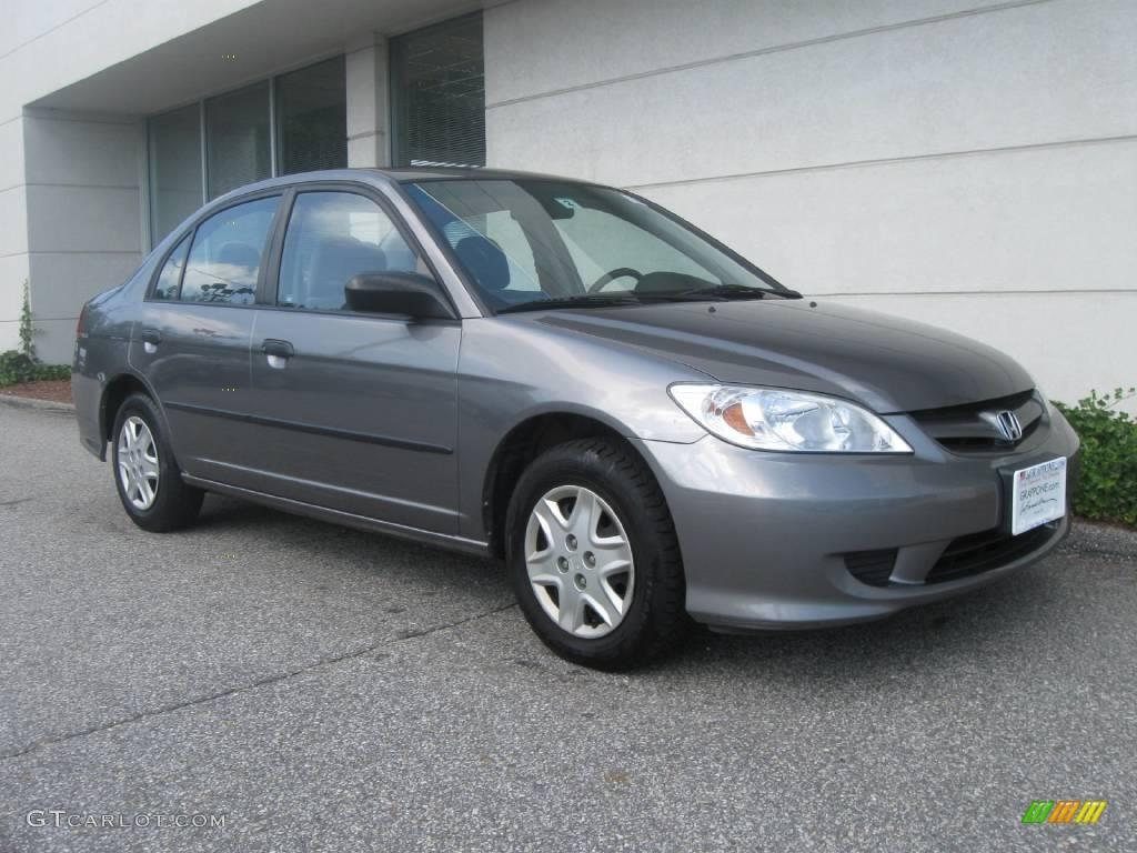2005 magnesium metallic honda civic value package sedan