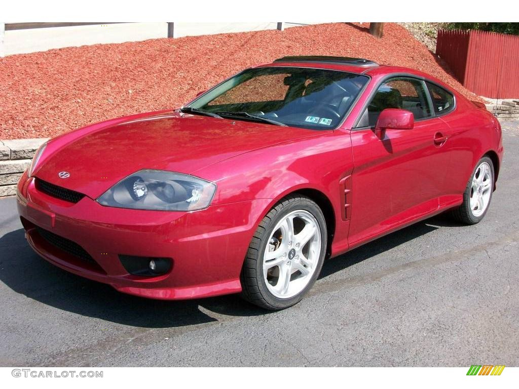 2006 Electric Red Hyundai Tiburon Gt 17497185 Gtcarlot