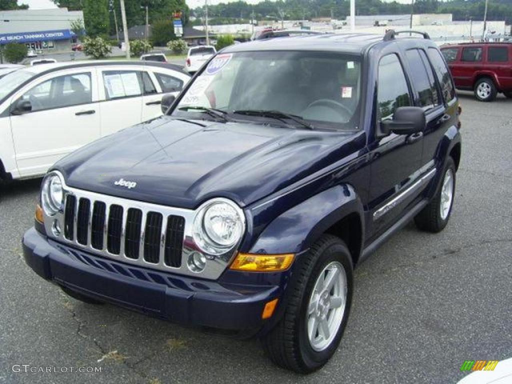 Midnight Blue Pearl Jeep Liberty. Jeep Liberty Limited 4x4