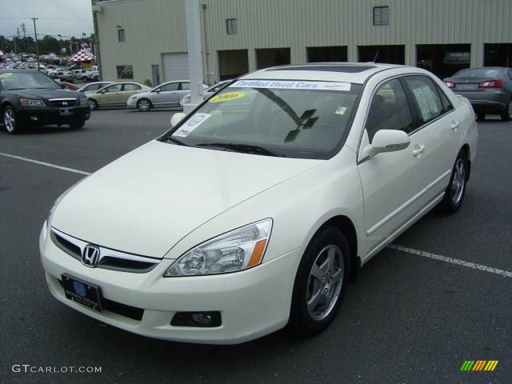 2006 Premium White Pearl Honda Accord Hybrid Sedan