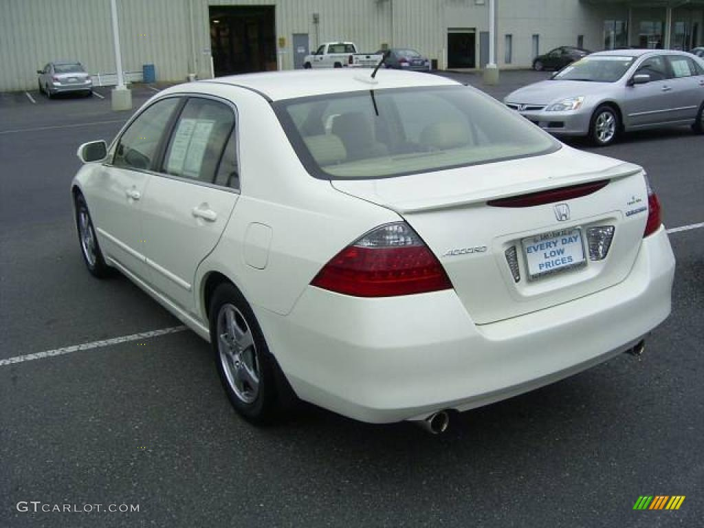 2006 Accord Hybrid Sedan   Premium White Pearl / Ivory Photo #5