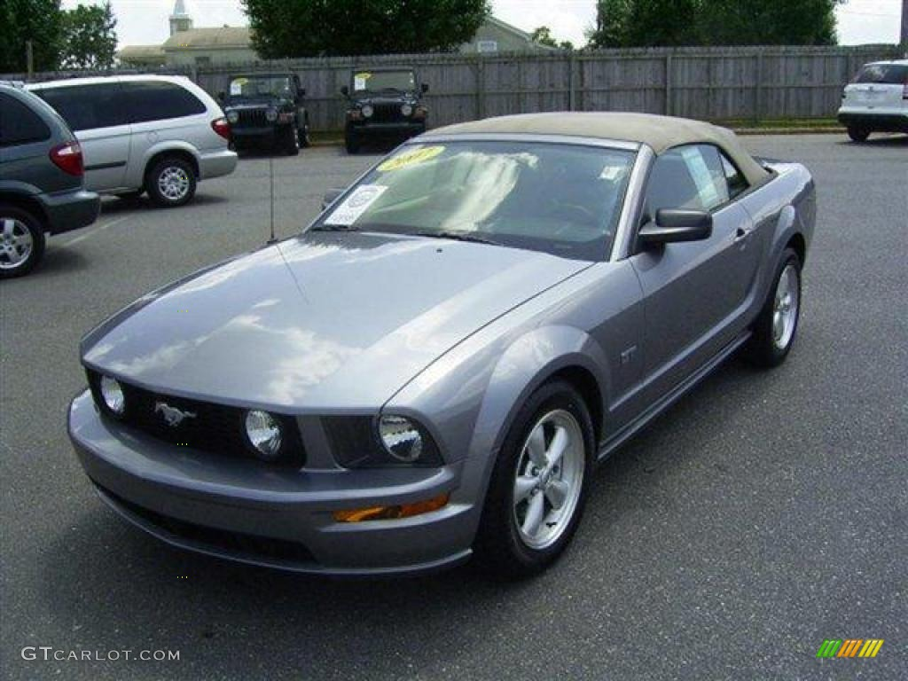 2007 Mustang GT Premium Convertible - Tungsten Grey Metallic / Dark Charcoal photo #1