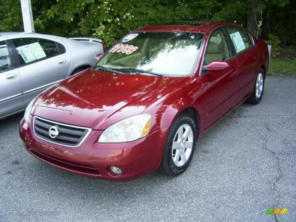 2003 sonoma sunset red nissan altima 2.5 sl #17548111 | gtcarlot
