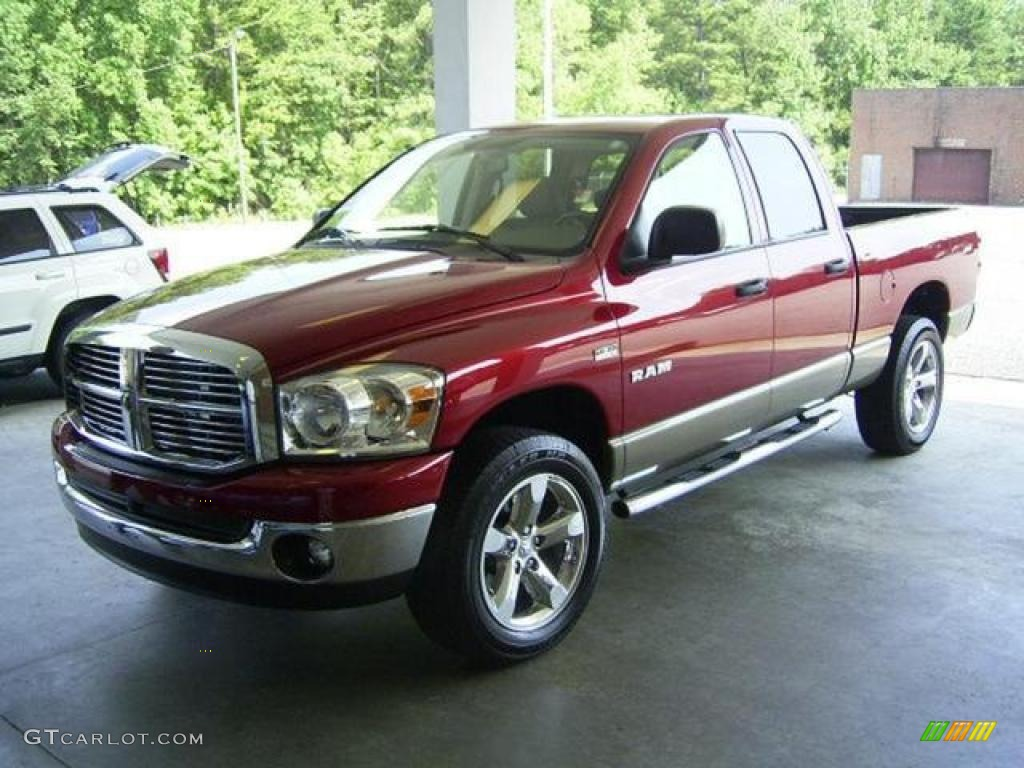 2008 inferno red crystal pearl dodge ram 1500 big horn edition quad cab 4x4 17548109 gtcarlot. Black Bedroom Furniture Sets. Home Design Ideas