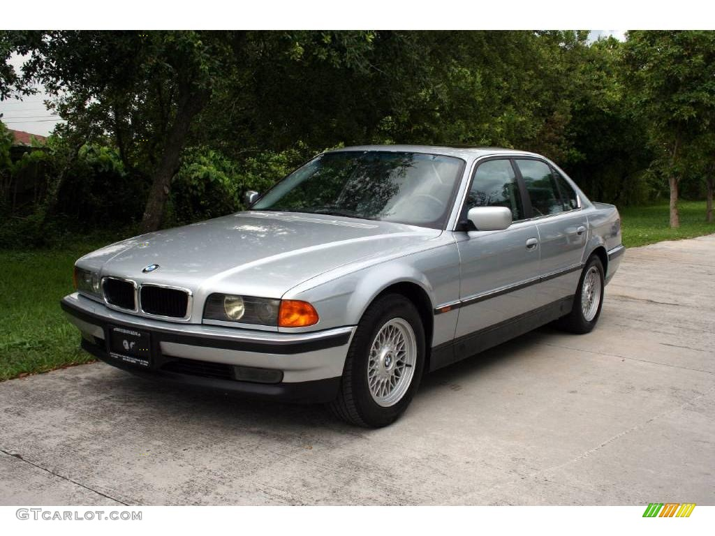 1998 arctic silver metallic bmw 7 series 740il sedan. Black Bedroom Furniture Sets. Home Design Ideas