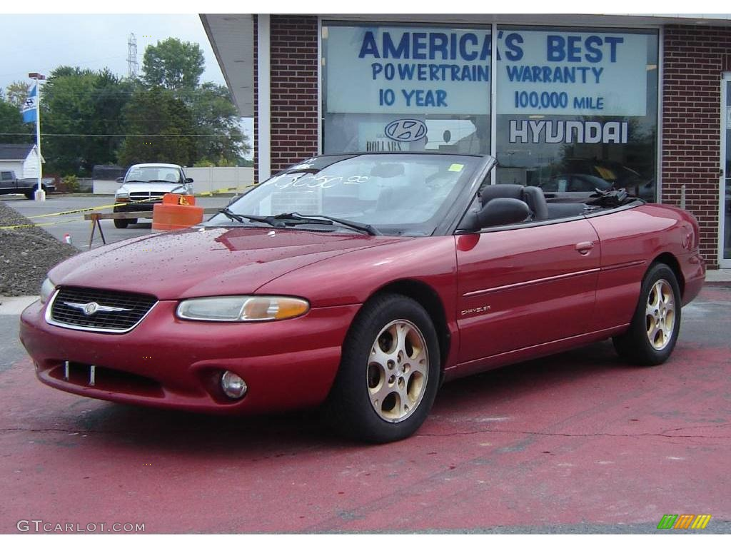 1999 Deep Cranberry Pearl Chrysler Sebring Jxi Convertible