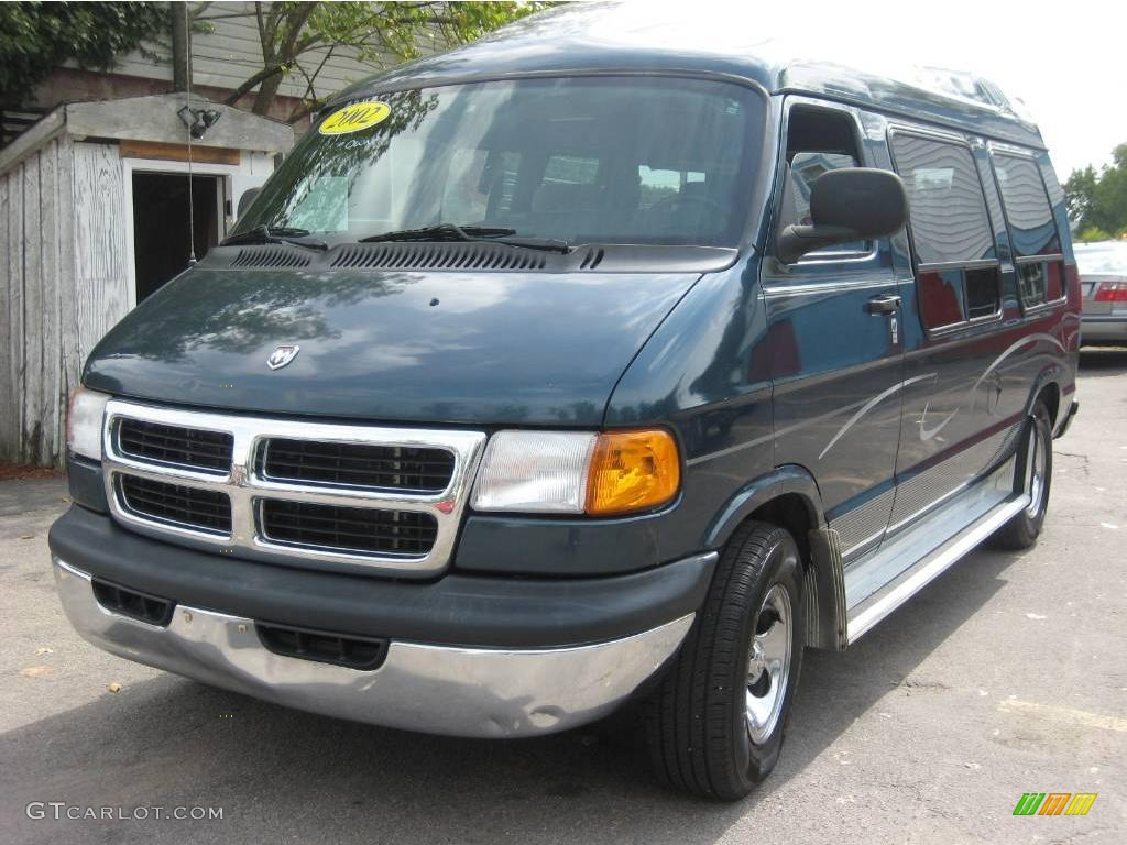 Dark Spruce Green Metallic Dodge Ram Van 1500 Penger Conversion