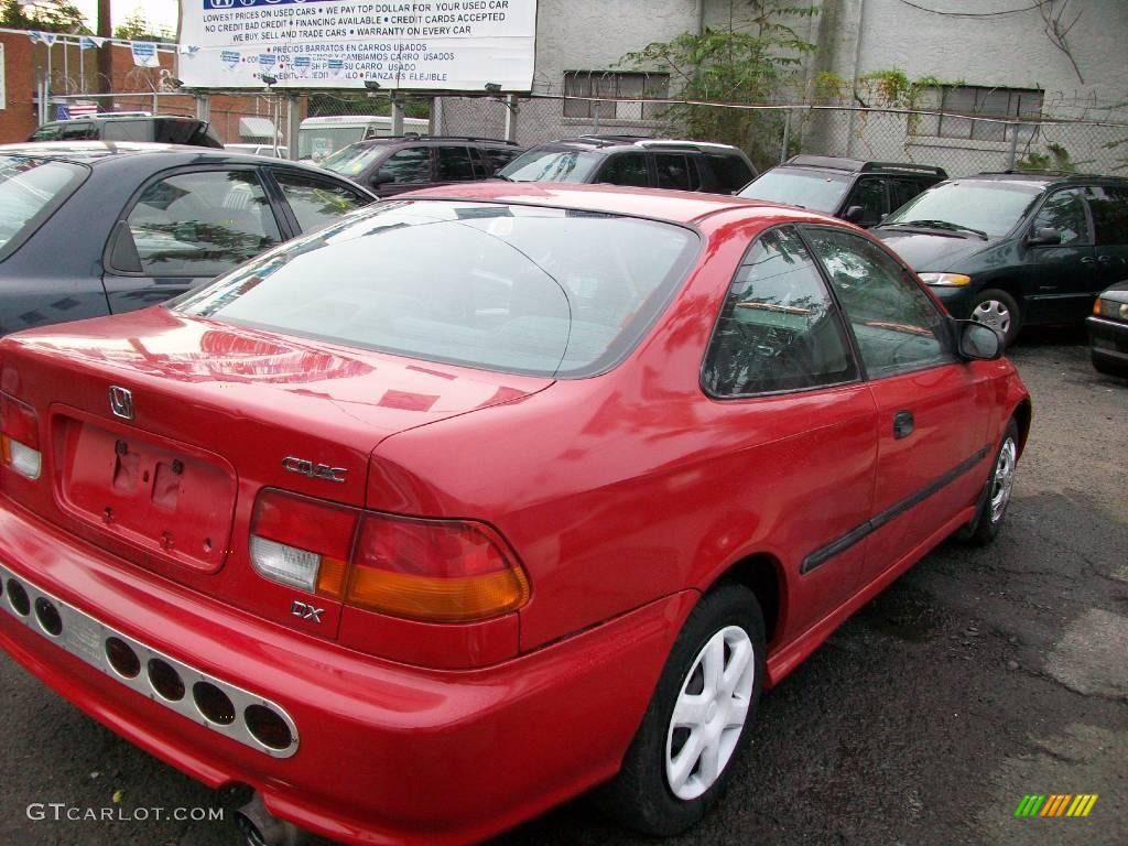 1998 Civic DX Coupe   Milano Red / Black Photo #4