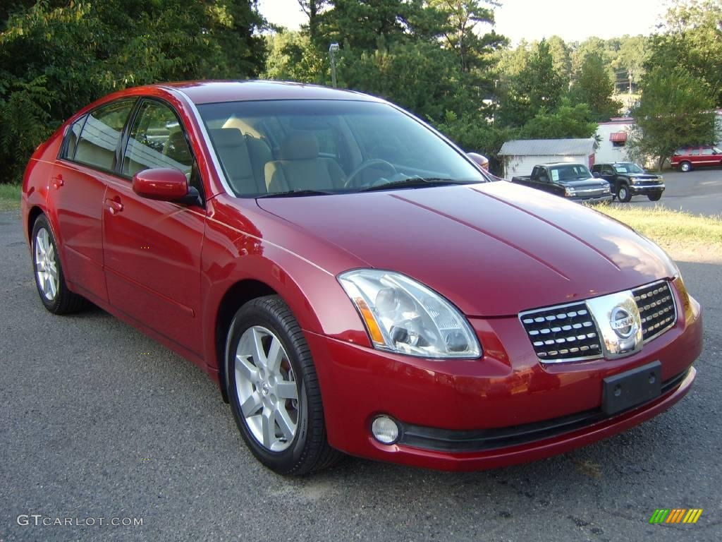 2004 Red Opulence Nissan Maxima 3 5 Sl 17623378 Photo 2
