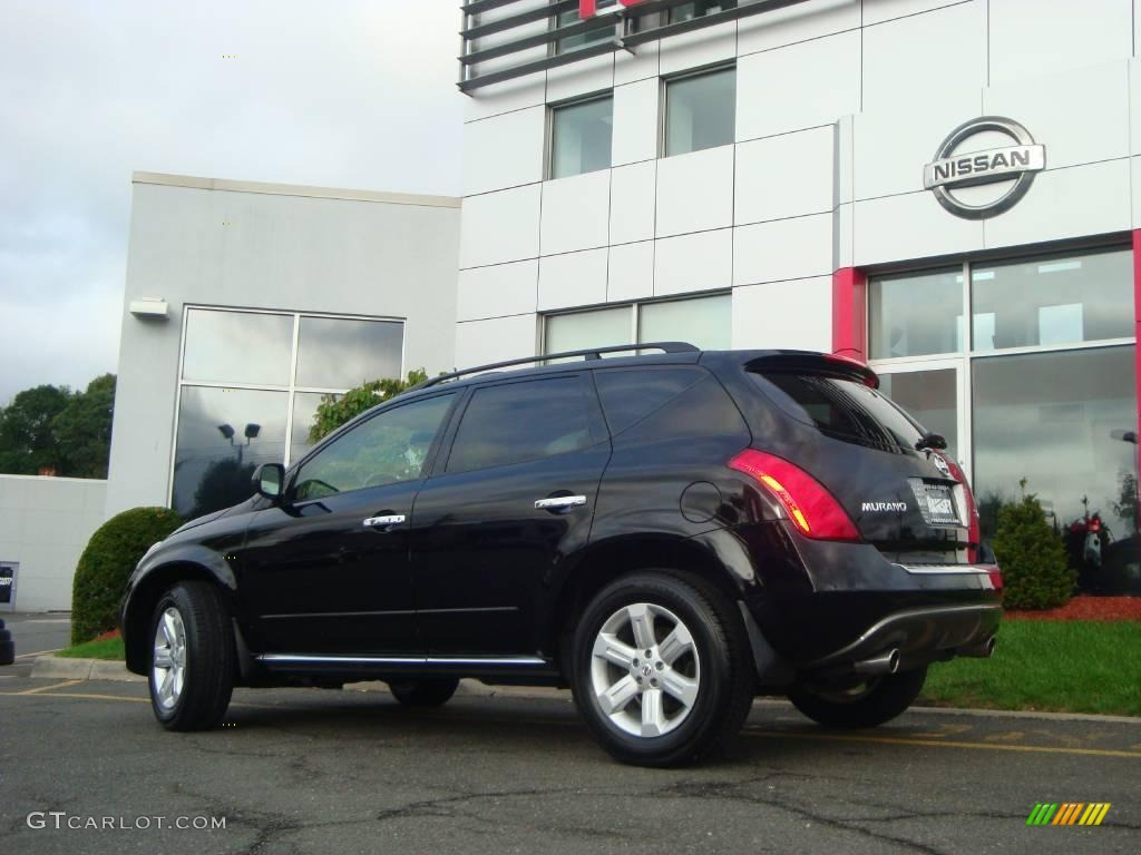 2006 Murano SL AWD - Super Black / Charcoal photo #7