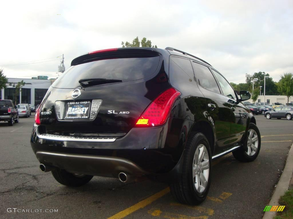 2006 Murano SL AWD - Super Black / Charcoal photo #11