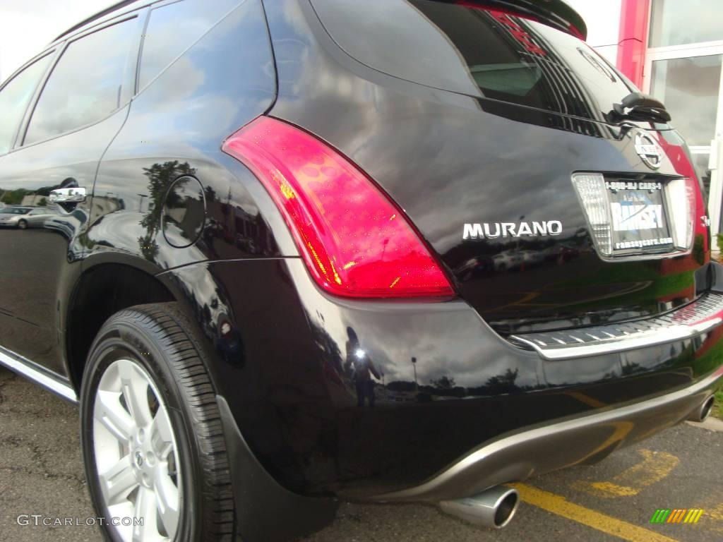 2006 Murano SL AWD - Super Black / Charcoal photo #20
