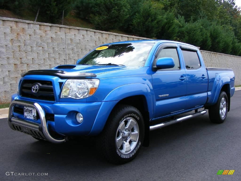 Speedway blue pearl toyota tacoma