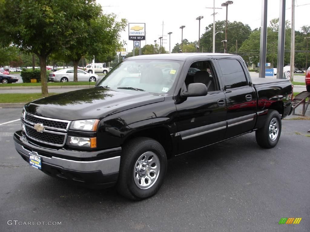 2006 black chevrolet silverado 1500 ls crew cab 4x4 17686089 car color galleries. Black Bedroom Furniture Sets. Home Design Ideas