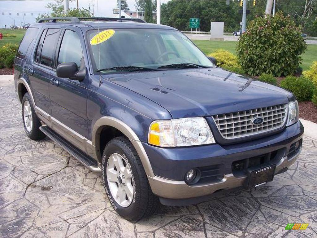 Medium Wedgewood Blue Metallic Ford Explorer. Ford Explorer Eddie Bauer 4x4