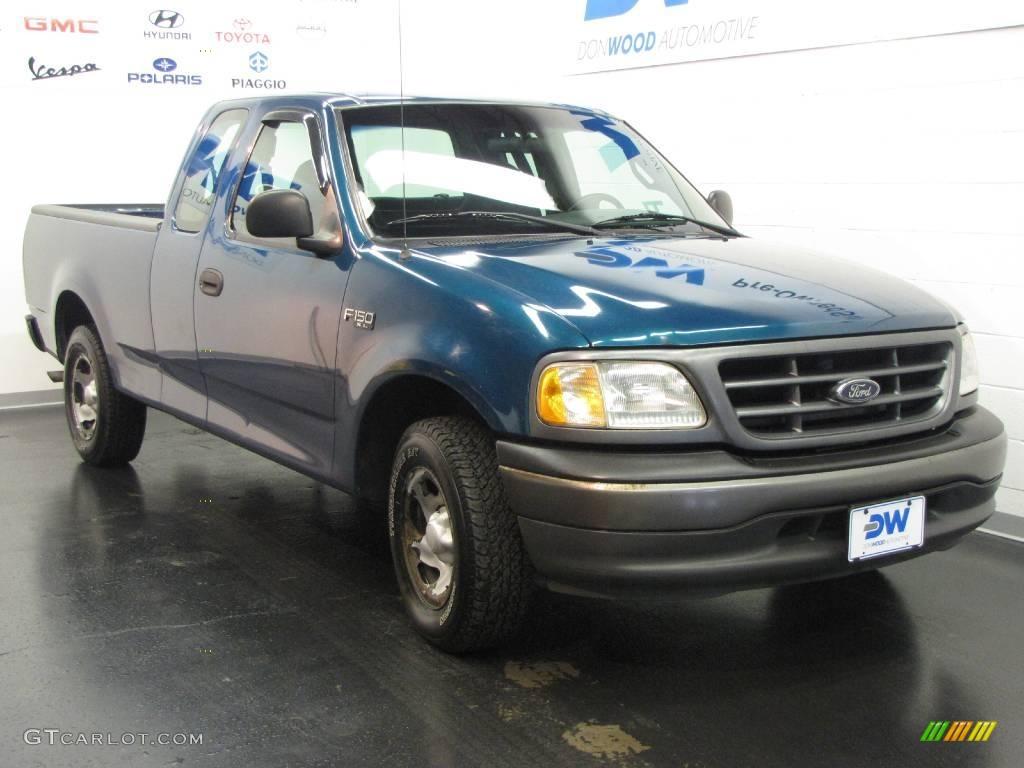 2001 Island Blue Metallic Ford F150 XL SuperCab 17745748 Ca