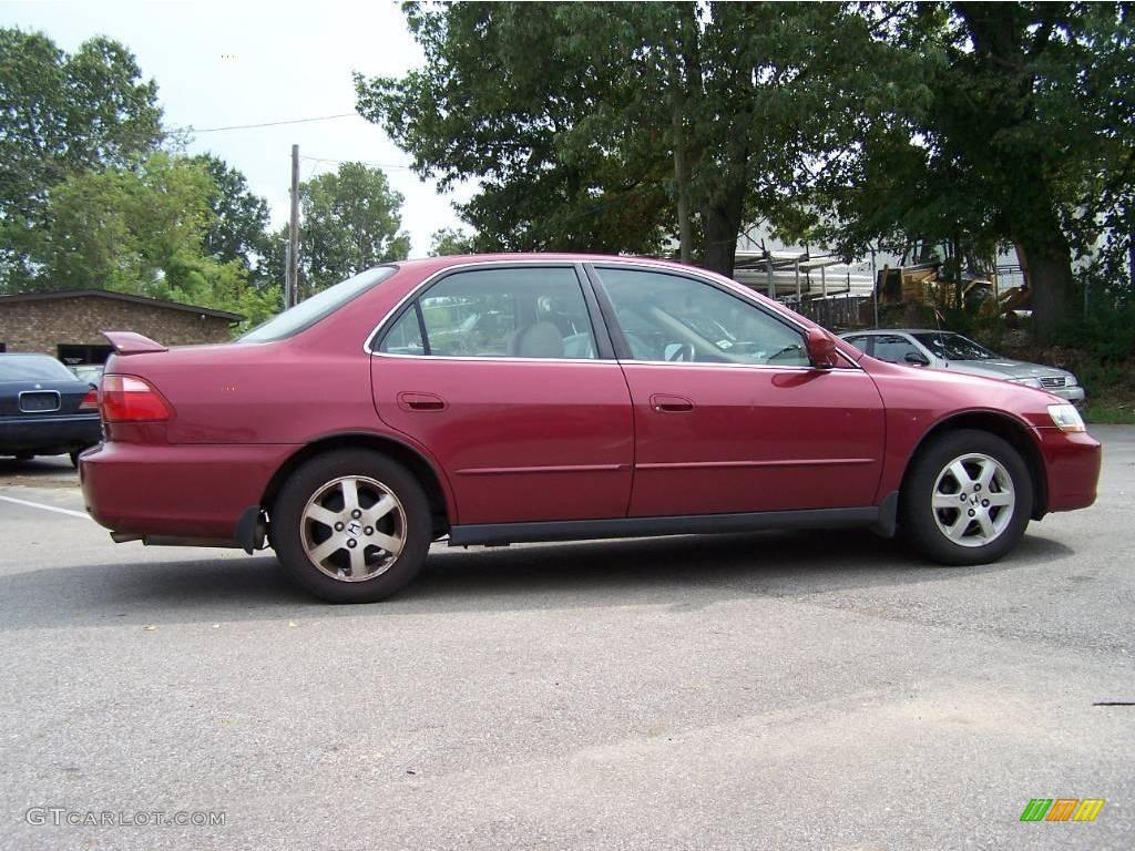 2000 Ruby Red Pearl Honda Accord Se Sedan 17740066 Photo
