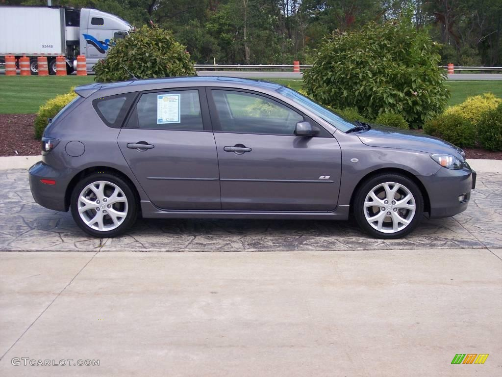 2008 galaxy gray mica mazda mazda3 s sport hatchback. Black Bedroom Furniture Sets. Home Design Ideas