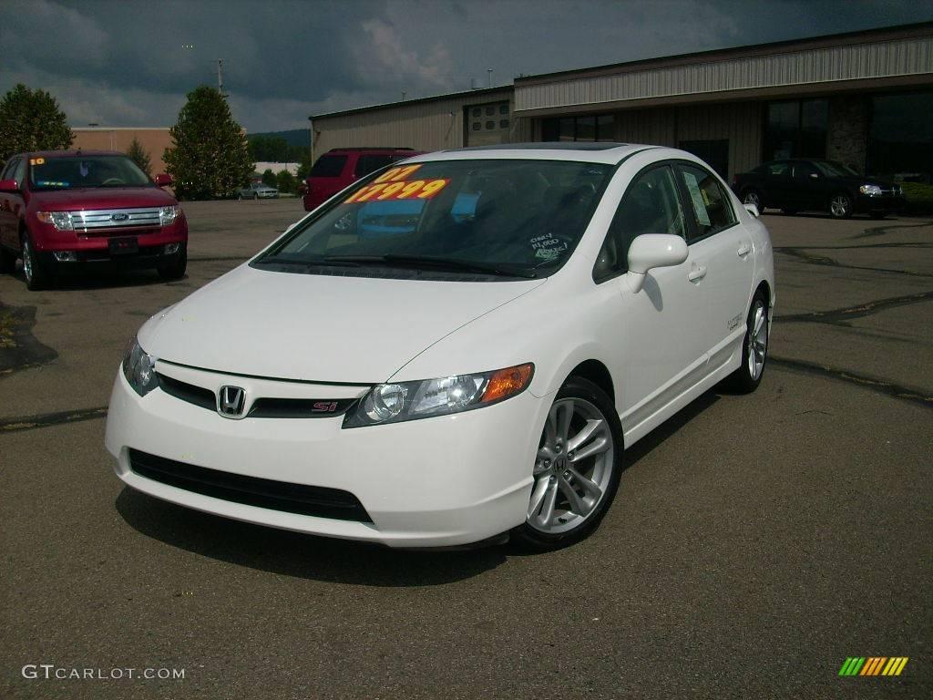 2007 taffeta white honda civic si sedan 17692211 for Honda civic si white