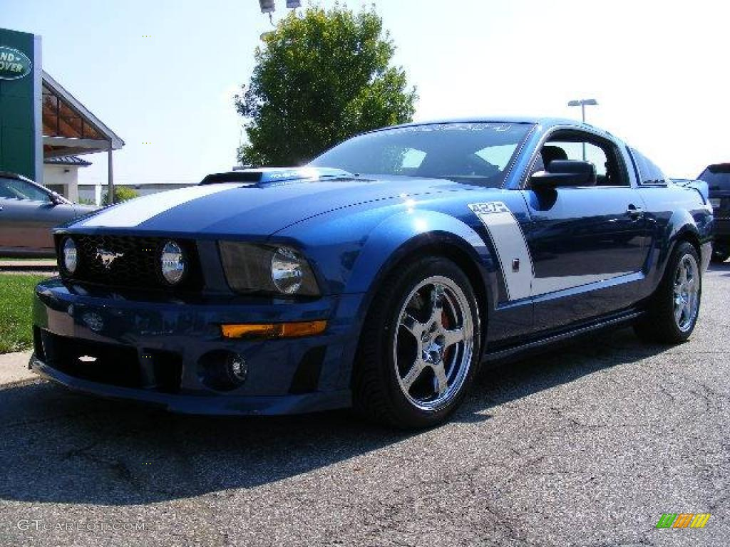 2007 vista blue metallic ford mustang roush 427r. Black Bedroom Furniture Sets. Home Design Ideas