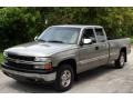 2000 Light Pewter Metallic Chevrolet Silverado 1500 LS Extended Cab 4x4  photo #1