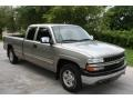 2000 Light Pewter Metallic Chevrolet Silverado 1500 LS Extended Cab 4x4  photo #10