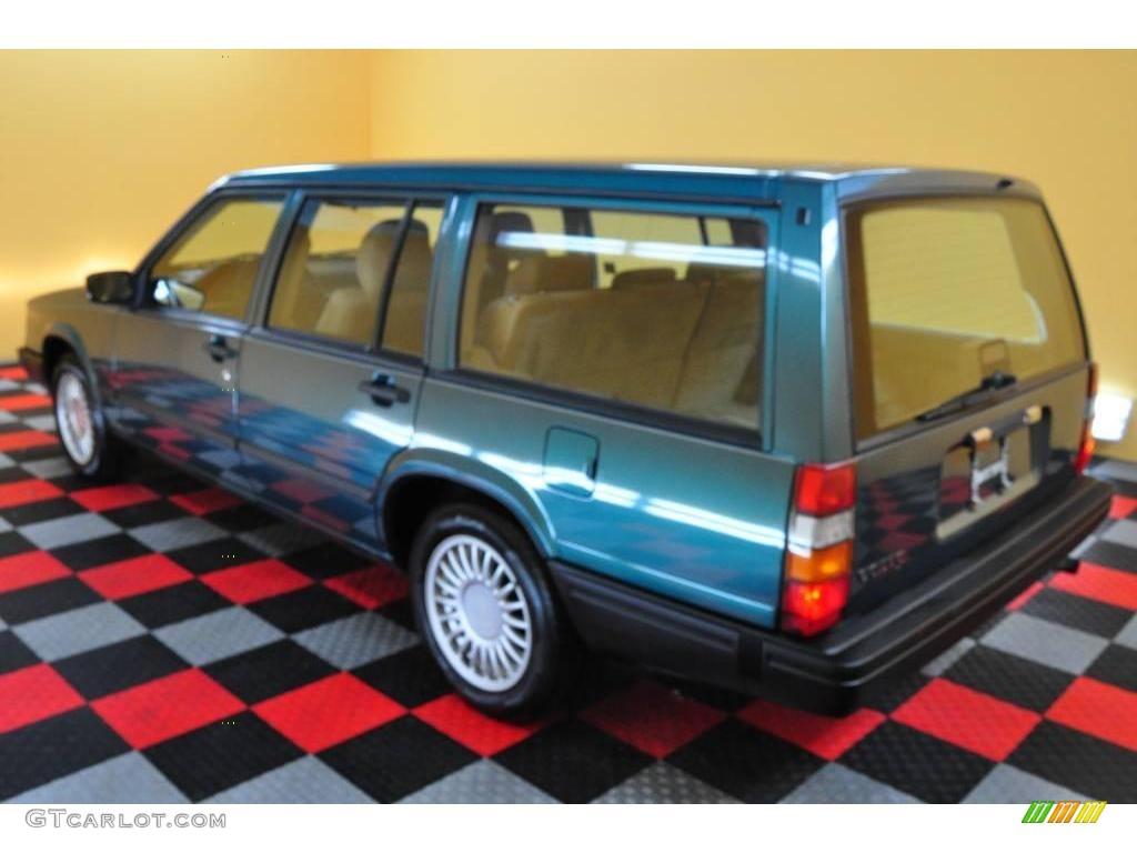 1995 940 wagon blue green metallic beige photo 4