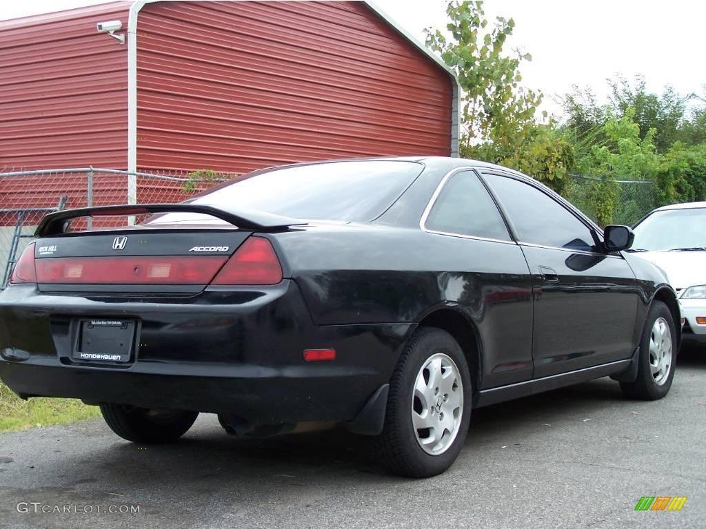 2000 Accord EX L Coupe   Nighthawk Black Pearl / Charcoal Photo #3