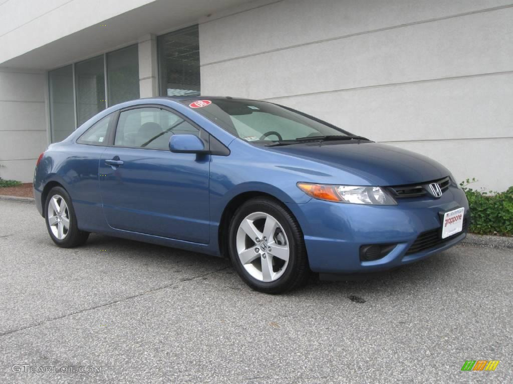 2008 Atomic Blue Metallic Honda Civic Ex Coupe 17837505 Gtcarlot Com Car Color Galleries