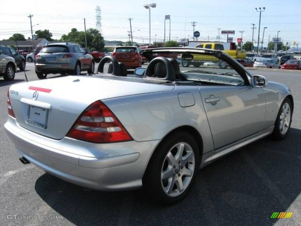 2001 SLK 230 Kompressor Roadster - Brilliant Silver Metallic / Charcoal Black photo #4