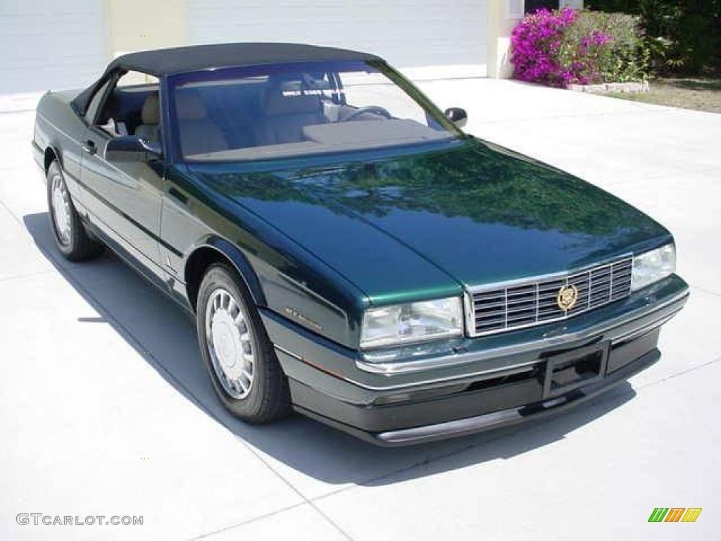 1993 Allante Convertible - Polo Green Metallic / Natural Beige photo #6