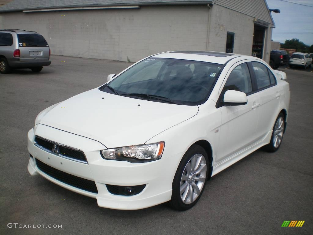 2010 wicked white metallic mitsubishi lancer gts 17828766. Black Bedroom Furniture Sets. Home Design Ideas
