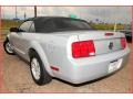 2007 Satin Silver Metallic Ford Mustang V6 Deluxe Convertible  photo #3