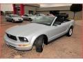 2007 Satin Silver Metallic Ford Mustang V6 Deluxe Convertible  photo #17