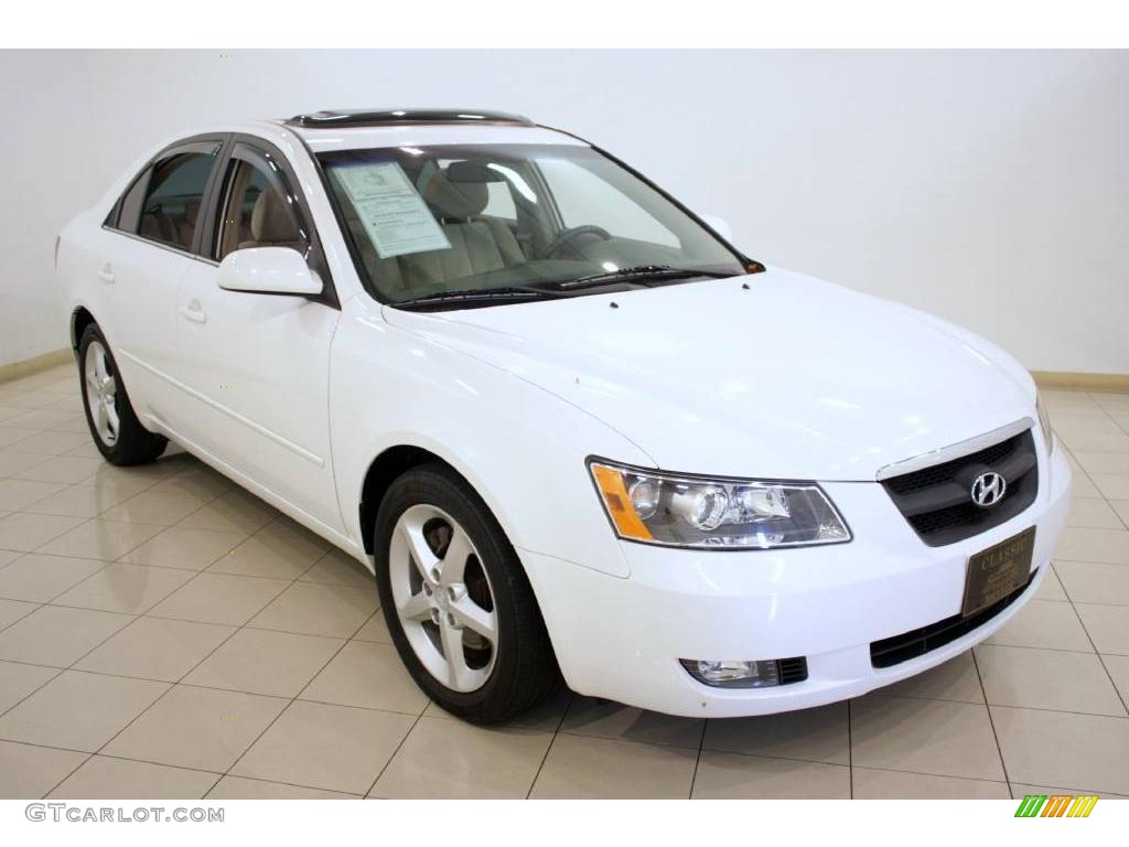 2006 Powder White Pearl Hyundai Sonata Gls V6 17843159