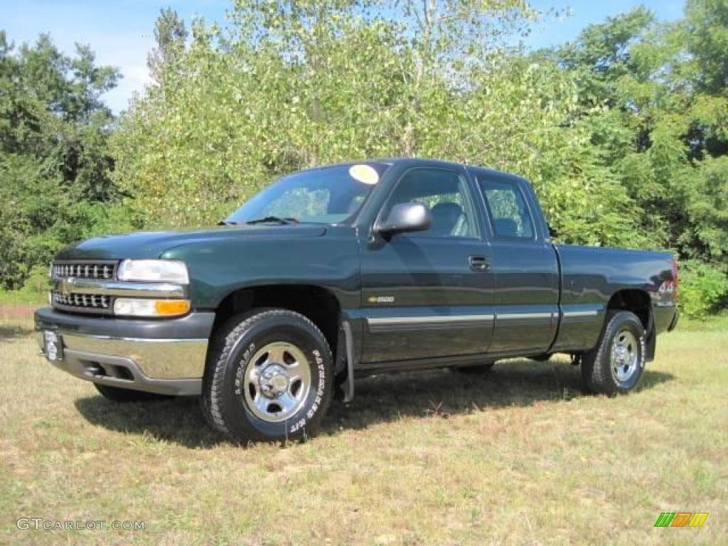 2002 Silverado 1500 Extended Cab 4x4 - Forest Green Metallic / Graphite Gray photo #1