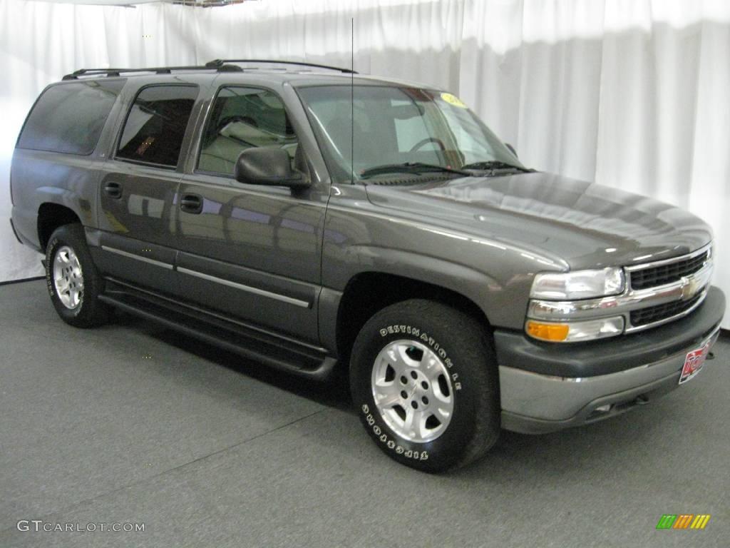 2002 medium charcoal gray metallic chevrolet suburban 1500 ls 4x4 17896116 gtcarlot com car