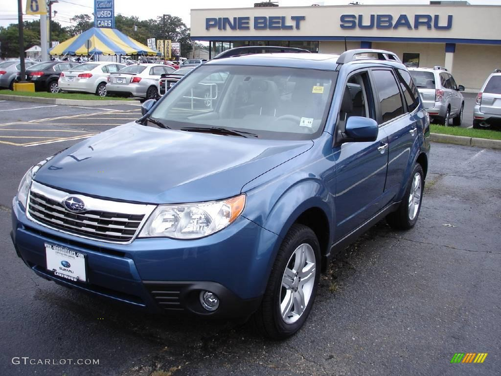 2009 newport blue pearl subaru forester 2 5 x limited 17887125 car color galleries. Black Bedroom Furniture Sets. Home Design Ideas