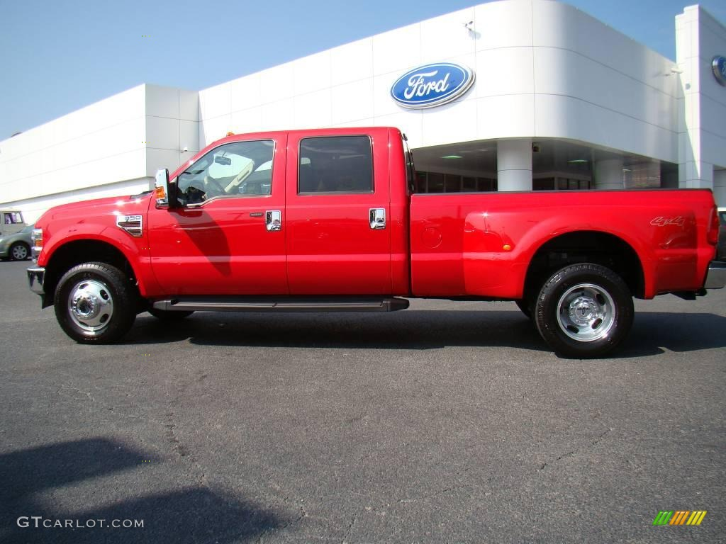 2008 bright red ford f350 super duty lariat crew cab 4x4 dually 17894569 photo 5 gtcarlot