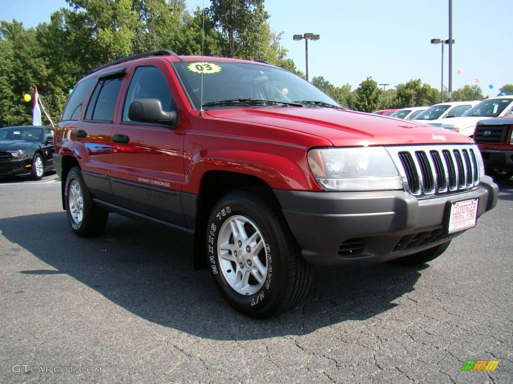 2003 inferno red tinted pearlcoat jeep grand cherokee laredo 17894565 car. Black Bedroom Furniture Sets. Home Design Ideas