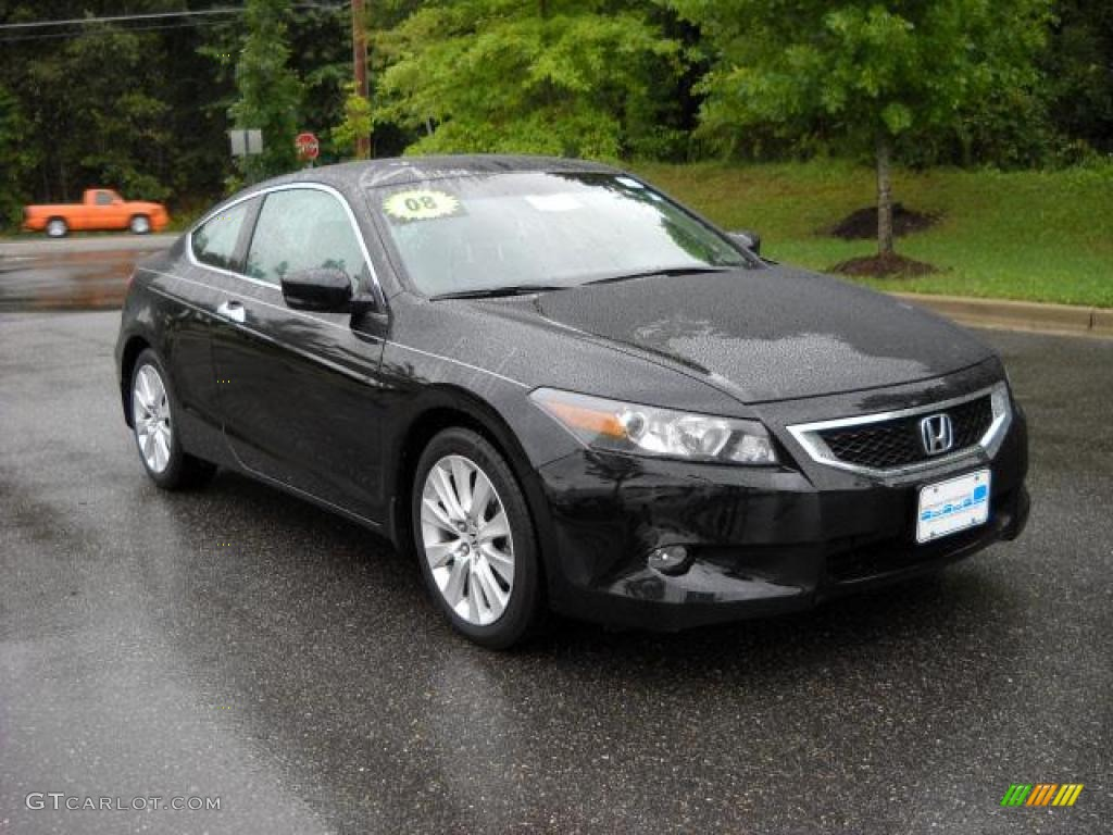 2008 nighthawk black pearl honda accord ex l v6 coupe 17930687 car color galleries. Black Bedroom Furniture Sets. Home Design Ideas