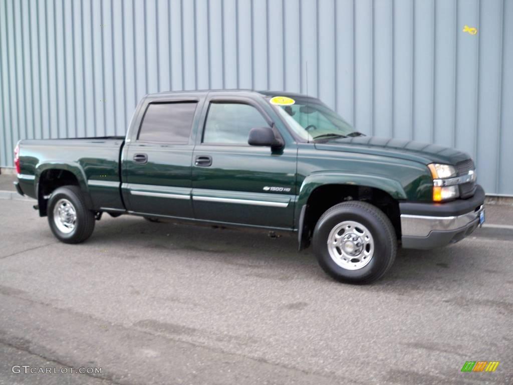 2003 dark green metallic chevrolet silverado 1500 hd crew cab 1769029 car. Black Bedroom Furniture Sets. Home Design Ideas