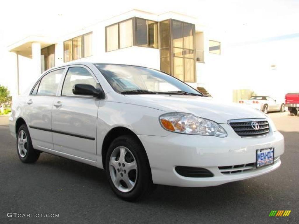 2005 Super White Toyota Corolla CE 17968362 Photo 3  GTCarLot