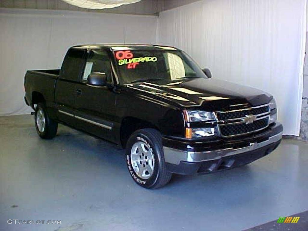2006 black chevrolet silverado 1500 extended cab 17967633 car color galleries. Black Bedroom Furniture Sets. Home Design Ideas