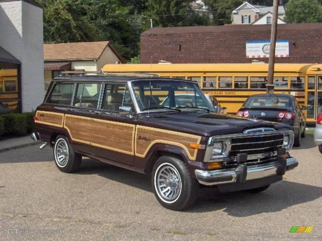 1990 black cherry metallic jeep grand wagoneer 4x4. Black Bedroom Furniture Sets. Home Design Ideas