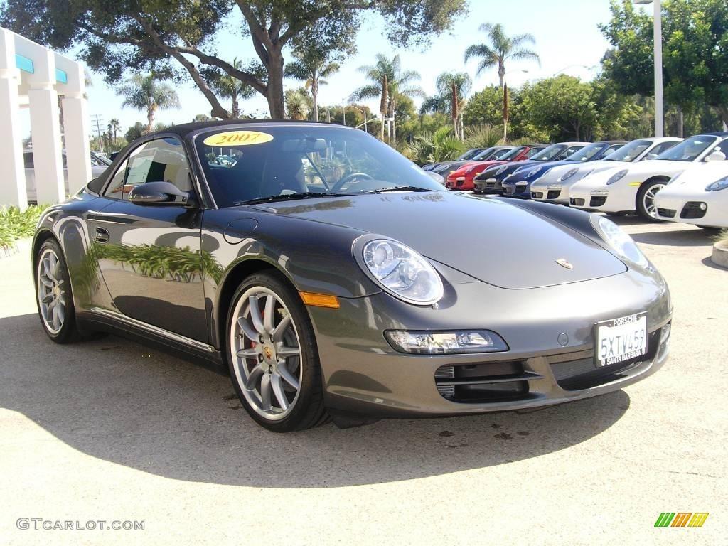 2007 slate grey metallic porsche 911 carrera 4s cabriolet. Black Bedroom Furniture Sets. Home Design Ideas