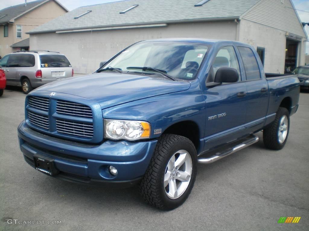 2004 atlantic blue pearl dodge ram 1500 slt quad cab 4x4 17956247 car color. Black Bedroom Furniture Sets. Home Design Ideas